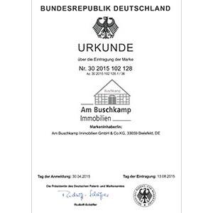 Urkunde Am Buschkamp